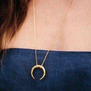 Gorjana gold Crescent Pendant Necklace